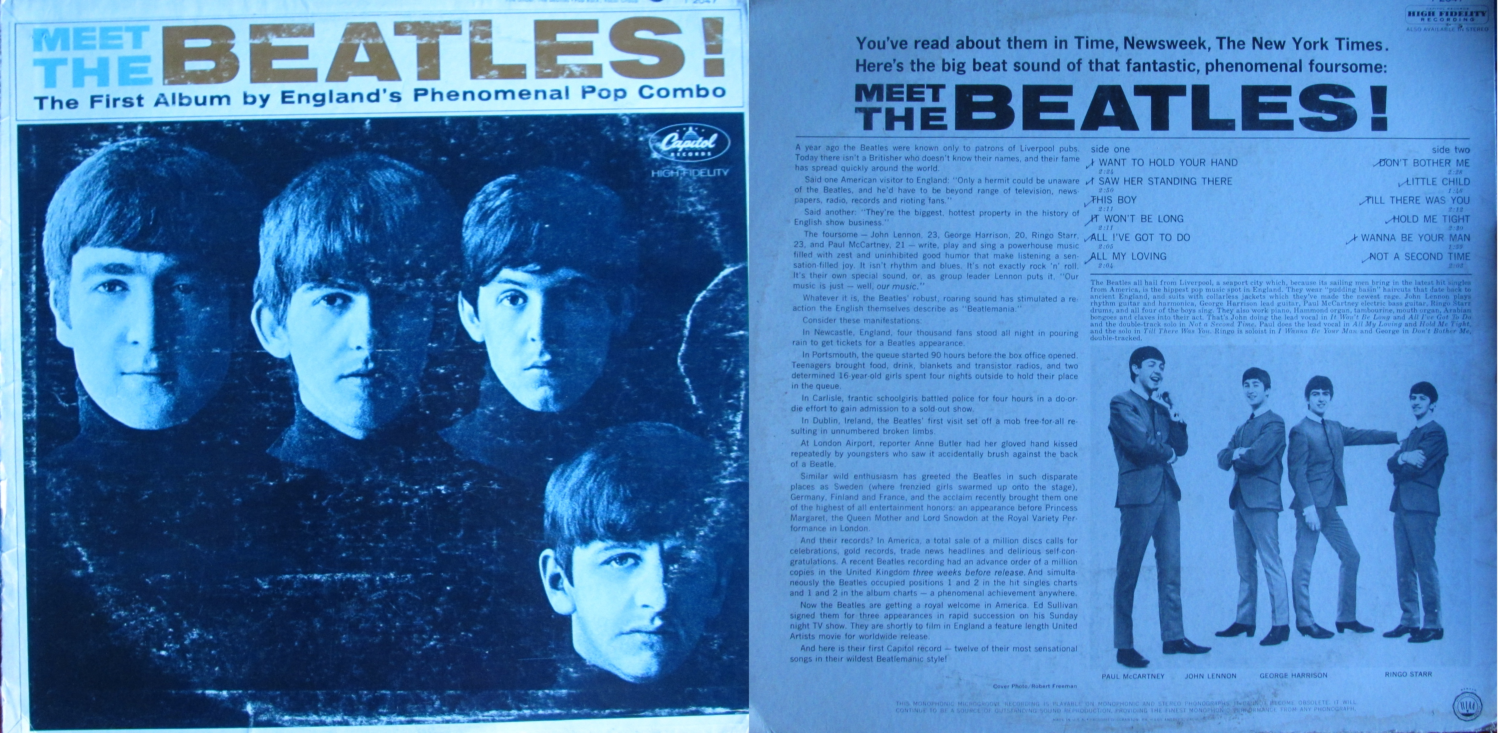meet the beatles first album by england phenomenal pop combo value