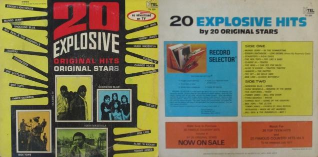 20 Explosive Original Hits Original Stars My Dad S Albums