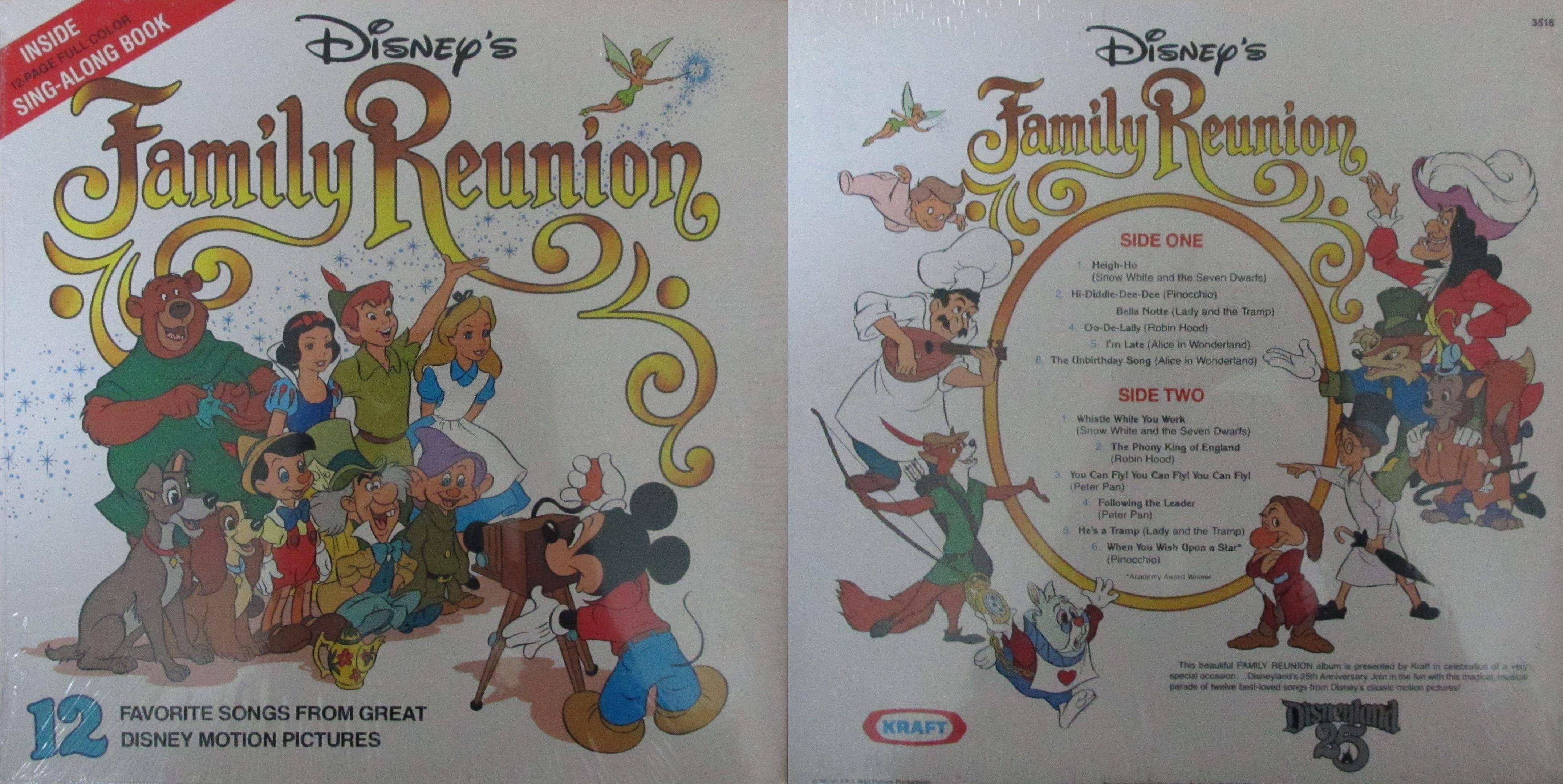 Disney S Family Reunion My Dad S Albums