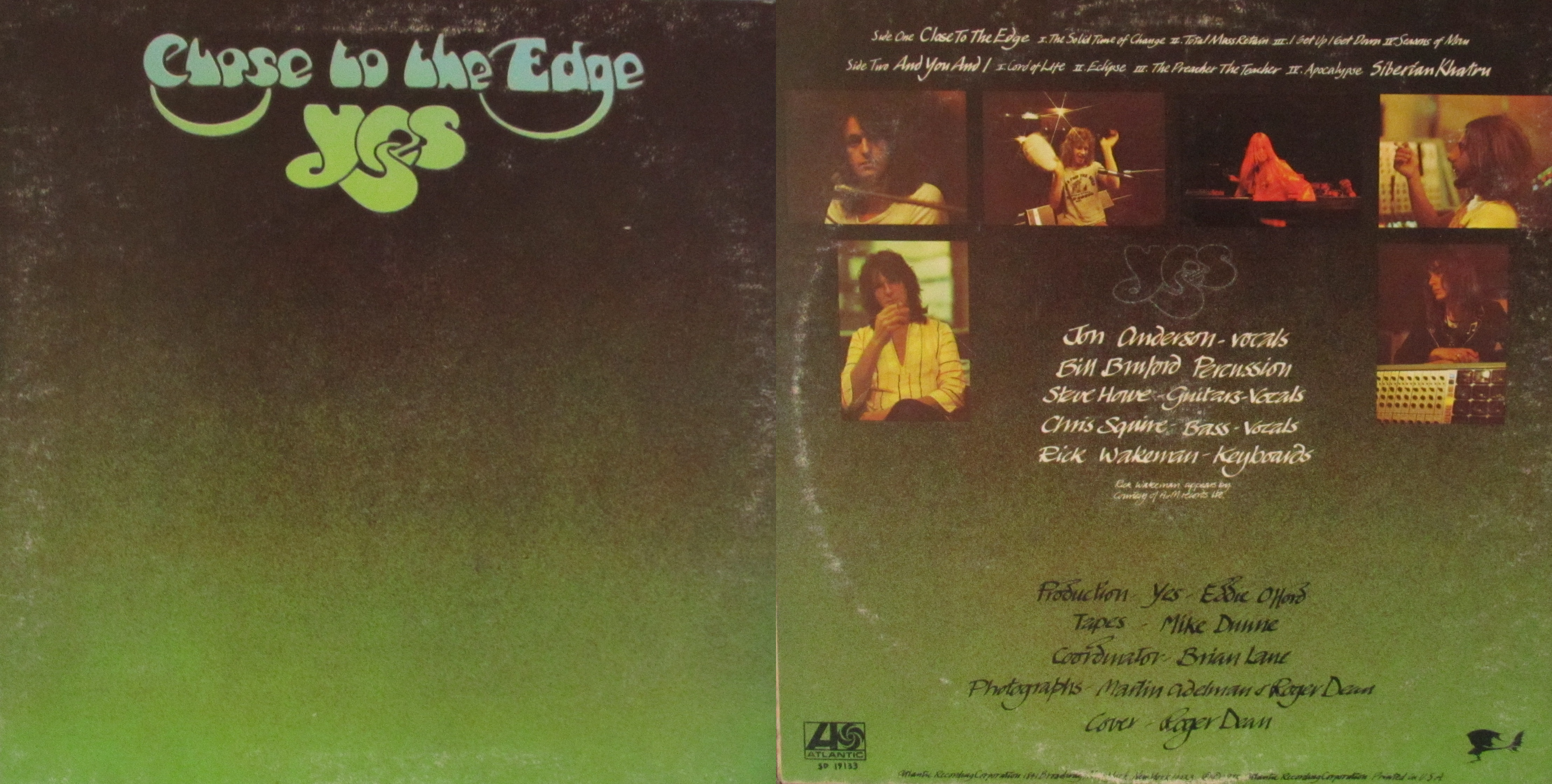 close to the edge � my dads albums