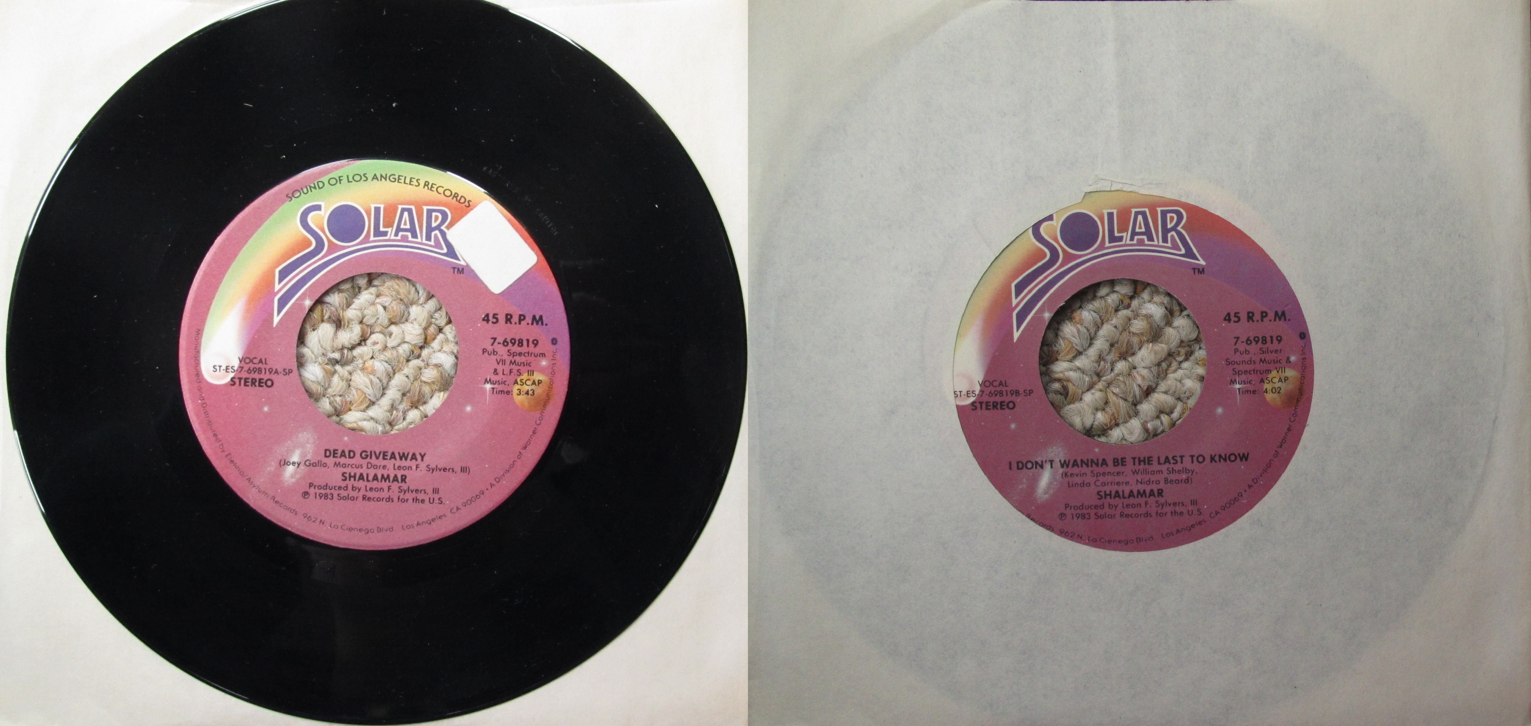 Shalamar S Dead Giveaway My Dad S Albums