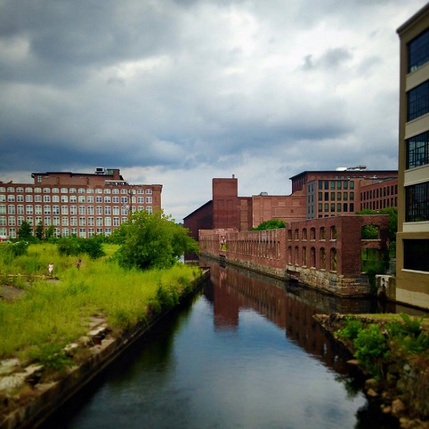 Lowell Canals by Swamp Locks